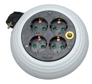 Kopp Kabelrolle 3m grau/schwarz