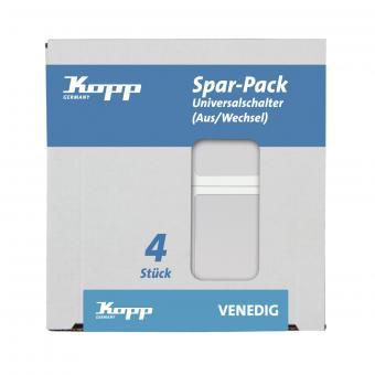 Kopp Profi-Pack 4 Universalschalter Venedig rein-weiß
