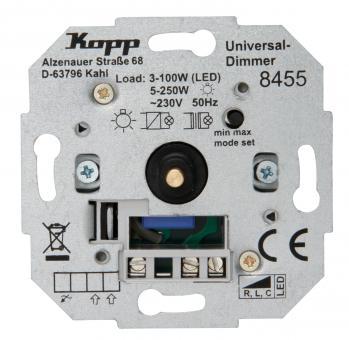 Kopp Universal Druckwechsel-Dimmer Sockel mit Nebenstellenanschluss