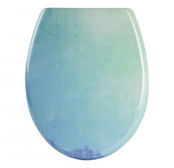 Sanitop WC-Sitz Soft-Touch Dekor farbig Duroplast Soft-Schließ-Komfort