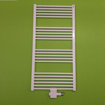 Mert Radiatoren Badheizkörper Standard Weiß gerade 400x1800 mm, mit Mittelanschluss