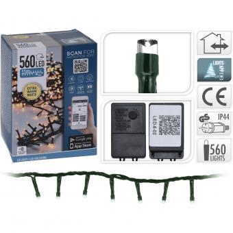Koopman Lichterkette 560 LED warmweiß