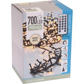 Koopman Cluster-Lichterkette 700 LEDs warmweiß