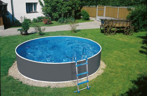 myPool Pool-Set Splash mit Sandfilter grau, Ø 3,60 x 1,10 m