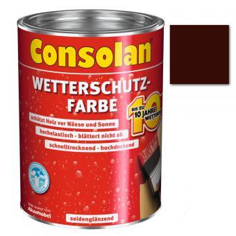 Consolan Wetterschutzfarbe dunkelbraun