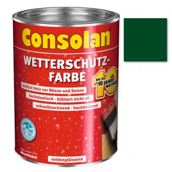 Consolan Wetterschutzfarbe moosgrün