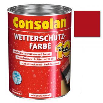 Consolan Wetterschutzfarbe rot