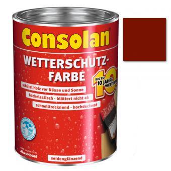 Consolan Wetterschutzfarbe schwedenrot