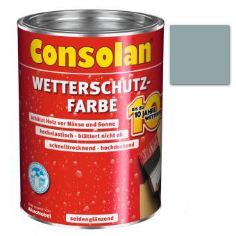 Consolan Wetterschutzfarbe silbergrau 0,75 Liter