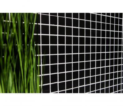 Mosaik Mosaikmatte Quadrat uni schwarz unglasiert rutschhemmend 327 x 302 mm
