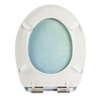 WC-Sitz Dekor Headlight Duroplast Soft-Schließ-Komfort Toilette WC Sitz Komfort